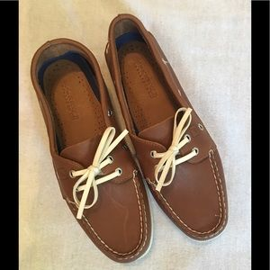 Sperry Top- Sider Leather Shoes Brown 9